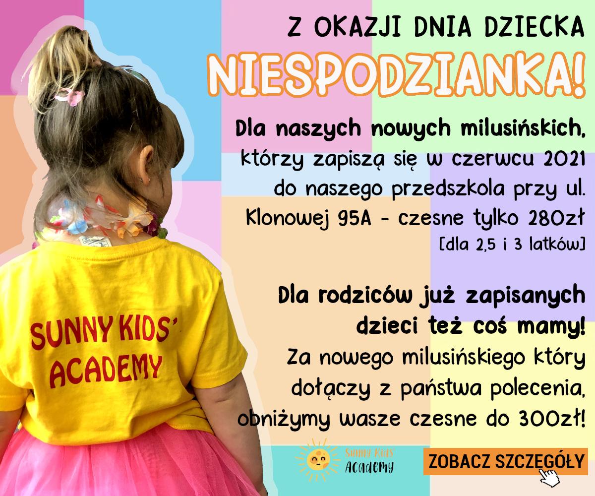 Promocja na Dzień Dziecka! Dla nowych i dotychczasowych przedszkolaków!